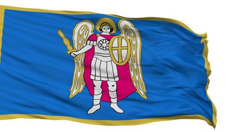 Kiev City Isolated Waving Flag Animation