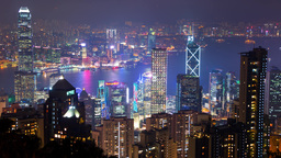 Dusk Over Hong Kong. Time Lapse 4K stock footage