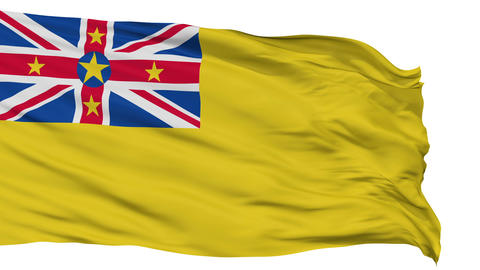 Niue City Isolated Waving Flag Animation