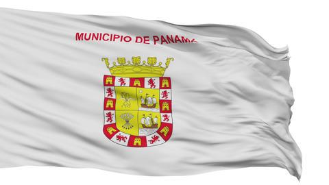 Panama City Isolated Waving Flag Animation