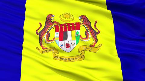 Putrajaya City Close Up Waving Flag Animation