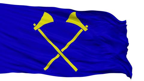 Saint Helier City Isolated Waving Flag Animation