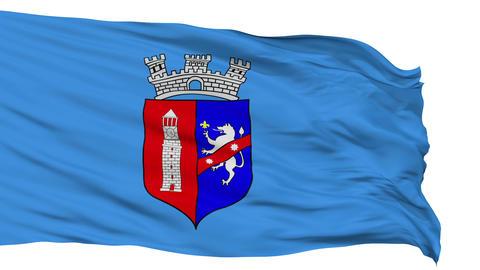 Tirana City Isolated Waving Flag Animation