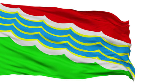 Tiraspol City Isolated Waving Flag Animation