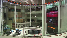 TOKYO STOCK EXCHANGE INISDE SCREENS AND TRADERS STOCKS AND SHARES Footage