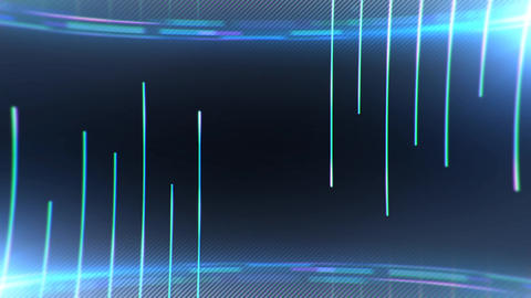 Animation geometrical vertical lines with particles animation Animation