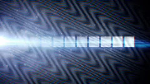 Abstract wave flow blue background animation Animation