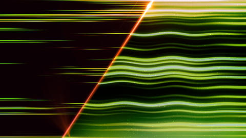 Abstract green wave lines animation on dark Animation