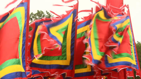 flag in traditional festivals, asia Live Action