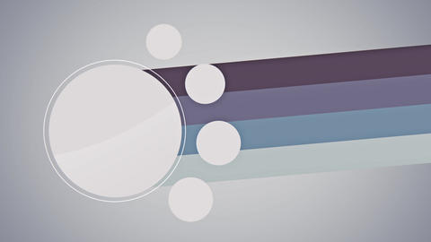 White circles with colorful lines label flat animation Animation