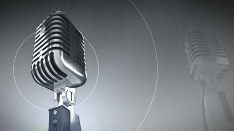Microphone music motion video background 0001 Animation