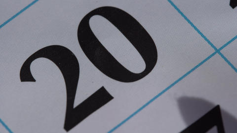 Marking the date in the calendar with a red marker Stock Video Footage