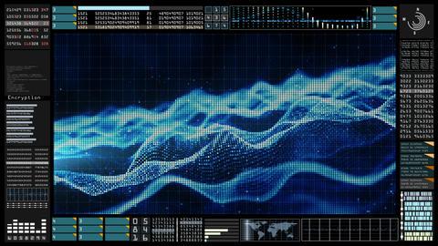 Hi-Tech HUD digital background 00141 Animation