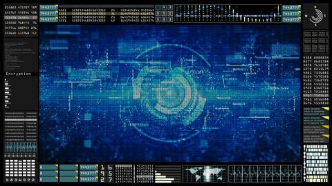 Hi-Tech HUD digital background 00142 Animation