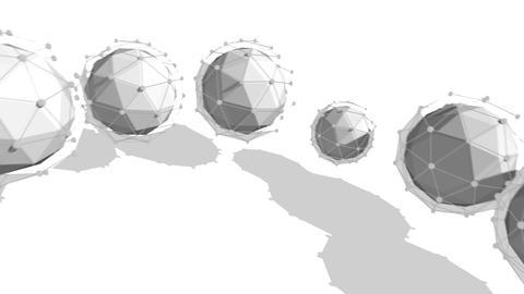 Spheres Revolting Diagonally as One Stripe Animation