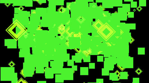 Animation - Thousands of Square Shape Fly .Has alpha channel Animation