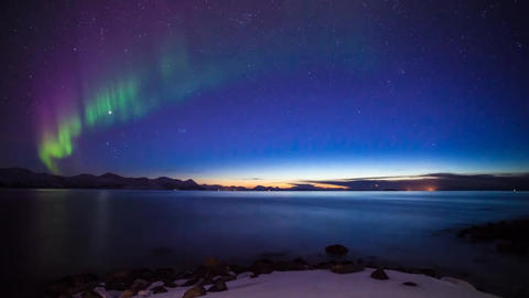 Aurora shows nature and the beauty of the aurora borealis Live Action
