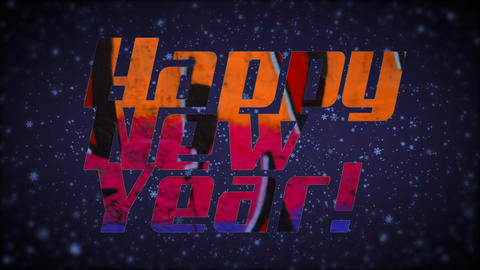 New Year Background Hip-Hop Style Animation