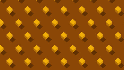 Isometric Ornament Background With Cubes Moving CG動画素材