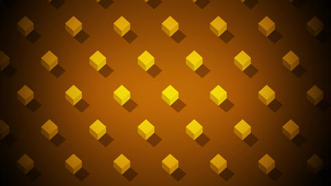 Isometric Ornament Background With Cubes Moving Animation