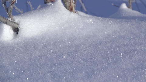 Background with Fresh Shiny Snow Stock Video Footage