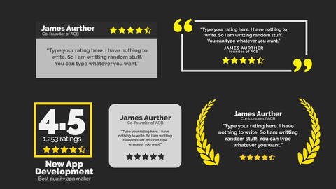 Review pack Motion Graphics Template