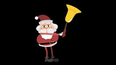 Santa Claus Animation Element 21 - ringing with a big bell Animación