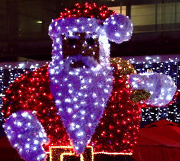 Glowing Lights Santa Footage
