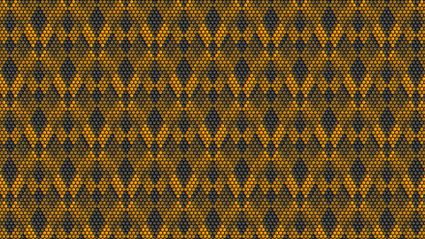 shapes like a honeycomb and moving yellow wave Animation