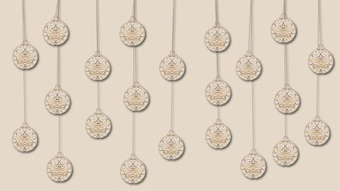 moving hanged christmas ornaments CG動画素材