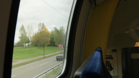 Train Overtakes The Car Footage