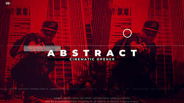 Abstract Cinematic Opener After Effectsテンプレート