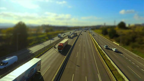 Highway Miniature Effect Loop Footage