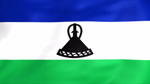 Flag Of Lesotho Animation