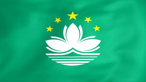 Flag Of Macau Stock Video Footage