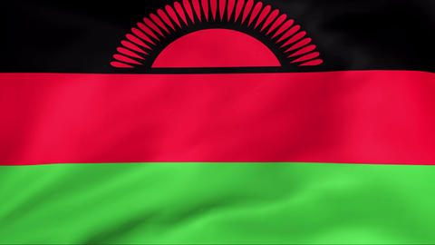 Flag Of Malawi Stock Video Footage
