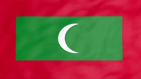 Flag Of Maldives Stock Video Footage