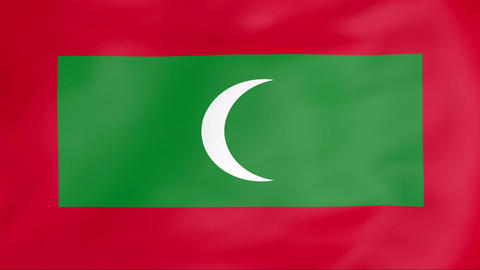 Flag Of Maldives Animation