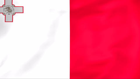 Flag Of Malta Stock Video Footage