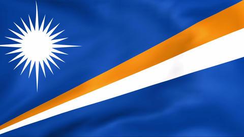 Flag Of Marshall Islands Stock Video Footage