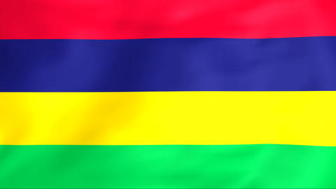 Flag Of Republic of Mauritius Animation