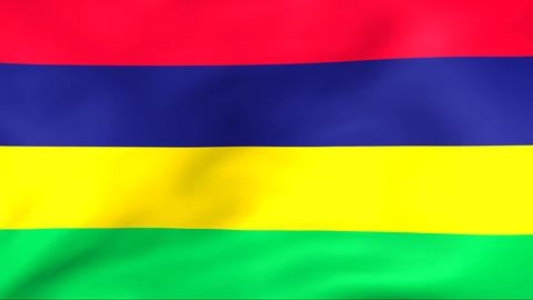 Flag Of Republic of Mauritius Stock Video Footage