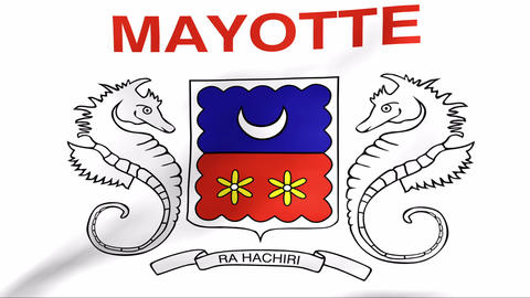 Flag Of Mayotte Stock Video Footage