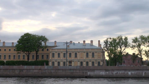 Menshikov Palace in St. Petersburg Stock Video Footage