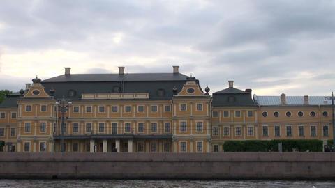 Menshikov Palace in St. Petersburg Stock Video Footage