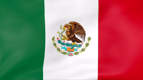 Flag Of Mexico Stock Video Footage