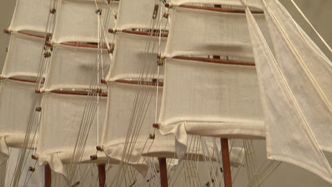 Model sailing ship Footage