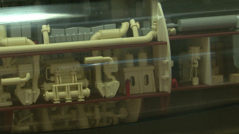 Models of submarines Stock Video Footage
