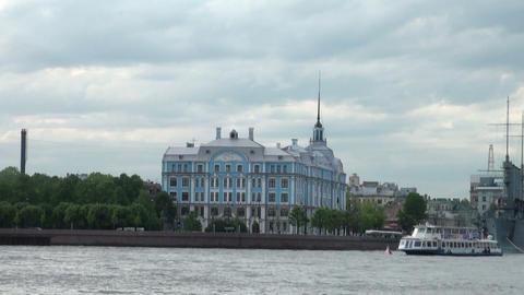 Nakhimov naval school in St. Petersburg Stock Video Footage