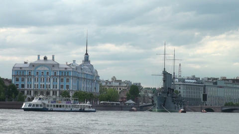 Nakhimov naval school in St. Petersburg Stock Video Footage